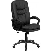 Massaging Leather Executive Office Chair - 2 Seat Options