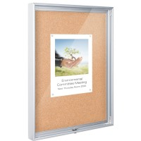 Best-Rite 94CAA-01 Enclosed Bulletin Board - 1.5 x 2 - Natural Cork