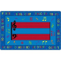 Fun with Music Educational Rug