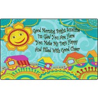 Good Morning Bright Sunshine Educational Rug