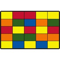 "Grid 7' 6"" x 12' Educational Rug"
