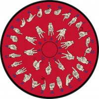 Hands That Teach 6' Round Educational Rug