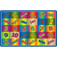 Kaleidoscope Counting Educational Rug