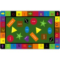 Simple Shapes Educational Rug