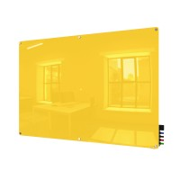 Ghent Harmony Colored Magnetic Glass Boards - Radius Corners - 5 Sizes in 8 Colors