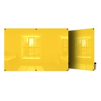 Ghent Harmony Colored Magnetic Glass Boards - Square Corners - 5 Sizes in 8 Colors