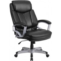 Signature Series 500 lb. Capacity Big & Tall Black Executive Office Chair - 2 Seat Options