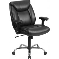 Signature Series 400 lb. Capacity Big & Tall Black Task Chair with Height Adjustable Arms - 2 Seat Options