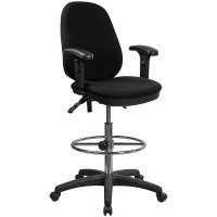 Ergonomic Multi-Functional Triple Paddle Drafting Stool with Adjustable Foot Ring - Optional Arms Available