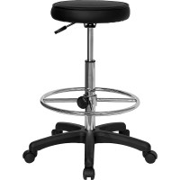Backless Drafting Stool with Adjustable Foot Ring