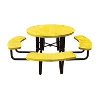 "46"" Round Perforated Metal Tables"