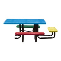 "46"" Square Perforated Metal Children's ADA Table"