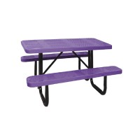 4' Standard Perforated Metal Picnic Tables