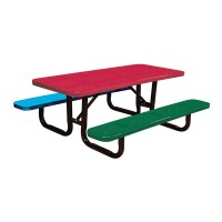 6' Perforated Metal Children's Picnic Tables
