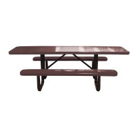 8' Standard Perforated Metal Portable ADA Picnic Table