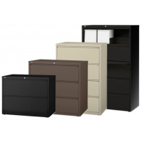 Lorell Lateral Files - 2-, 3-, 4-, and 5-Drawers in 5 Colors