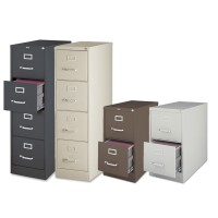Lorell Vertical Files - 2 Depths, 2- and 4-Drawers in 5 Colors
