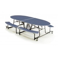 "AmTab MBE10 Mobile Bench Table 10'1"" x 46"" Empire"