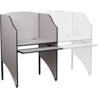 Study Carrel in Nebula Grey Finish