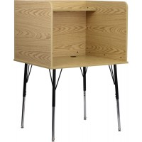 Study Carrel with Adjustable Legs and Top Shelf - 2 Color Options