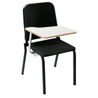 NPS Melody Music Stack Chair with Left Tablet Arm - Black - 8210-TA82L