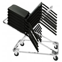 NPS 4-Wheel Dolly for use with NPS Melody 8200 Series Stacking Chairs - Holds up to 18 Chairs - DY-82