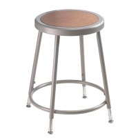 NPS 6200H Series Gray Lab Stools with Round Hardboard Seat - Three Adjustable Heights