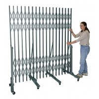 "Superior Portable Gate For corridor widths 7'-0"" - 12'-0"" 736 Sport Silver"