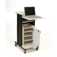 Oklahoma Sound Premium Plus Presentation Cart with Storage Cabinet - PRC250