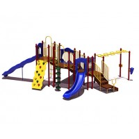 UPlayToday UPLAY-015-P Slide Mountain Play Structure for Ages 5-12