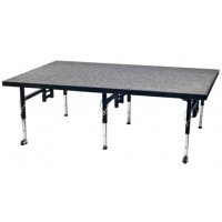 AmTab Dual-Height Stage and Seated Riser - Carpet Top - Multiple Sizes