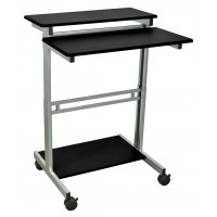 "Luxor STANDUP-31-5-B 31.5"" Adjustable Stand Up Desk - Black Top"