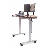 Luxor STANDUP-CF48-DW Stand Up Desk - Dark Walnut Top