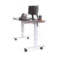 Luxor STANDUP-CF60-DW Stand Up Desk - Dark Walnut Top