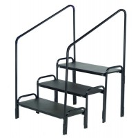 AmTab Stage Steps with Hand Rails – 1, 2, or 3 Step