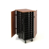 Oklahoma Sound Tablet Charging/Storage Cart (Cherry/Black) - TCSC