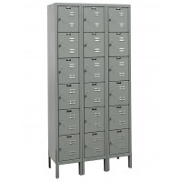 "Hallowell Premium Locker, 36""W x 18""D x 78""H, 725 Hallowell Gray, 6-Tier, 3-Wide"