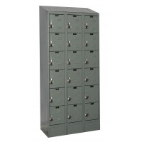 "Hallowell ReadyBuilt II Locker, 36""W x 15""D x 83""H, 725 Hallowell Gray, 6-Tier, 3-Wide"