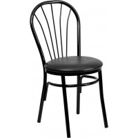 Signature Series Fan Back Metal Chair - Vinyl Seat - 2 Seat Options