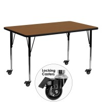 Mobile 24''W x 60''L Rectangular Activity Tables - 4 Colors Available