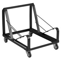 Signature Series Black Steel Sled Base Stack Chair Dolly