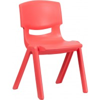 Plastic Stackable School Chair with 15.5'' Seat Height - 3 Seat Options
