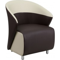 Leather Reception Chair with Detailing - 4 Seat Options