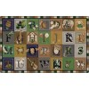 Flagship Carpets Tranquility Colors ABC Blocks Educational Rugs - 3 Sizes