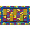 Flagship Carpets ABC Words Educational Rugs - 3 Sizes
