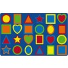 Flagship Carpets All Kinds of Shapes Primary Colors Educational Rugs - 3 Sizes