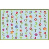 Flagship Carpets Blooming Alphabet in Blue Educational Rugs - 3 Sizes