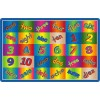 Flagship Carpets Kaleidoscope Counting Educational Rugs - 3 Sizes