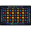 Flagship Carpets Reach for the Stars Educational Rug in Black - 3 Sizes
