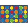 Flagship Carpets Sitting Spots in Primary Colors Educational Rugs - 6 Sizes